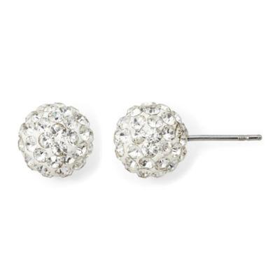 Monet® Pavé Crystal Stud Earrings