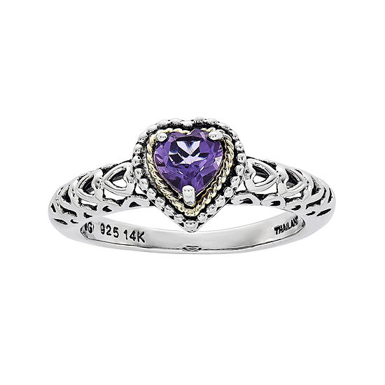 Shey Couture Sterling Silver Genuine Amethyst Ring