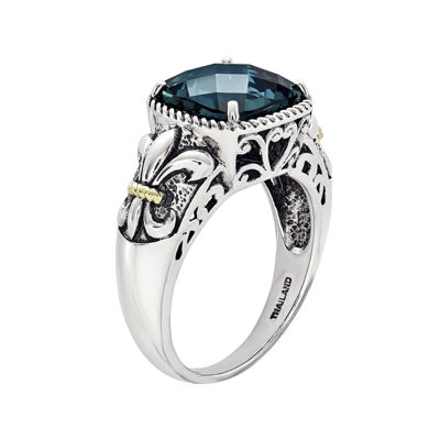 Shey Couture Genuine London Blue Topaz Sterling Silver Ring