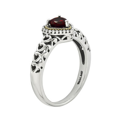 Shey Couture Genuine Garnet Sterling Silver Ring