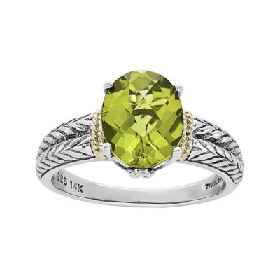 Shey Couture Genuine Peridot Sterling Silver Ring
