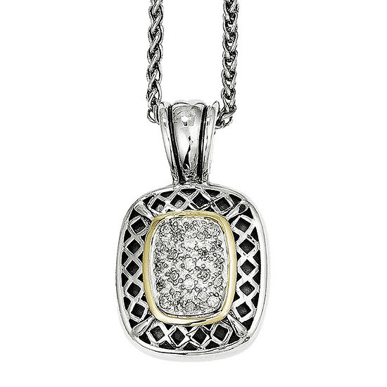 Shey Couture 1/7 CT. T.W. Diamond Sterling Silver Necklace