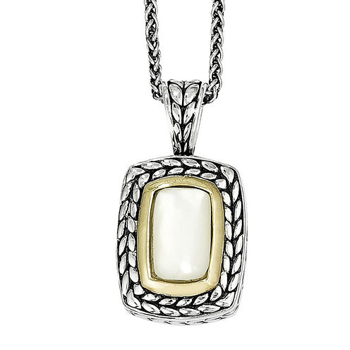 "Shey Couture Mother-of-Pearl Sterling Silver 18"" Pendant Necklace"