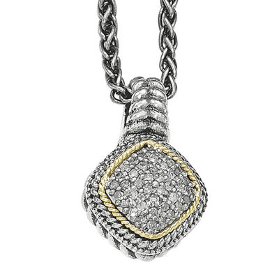 Shey Couture 1/10 CT. T.W. Diamond Sterling Silver Necklace