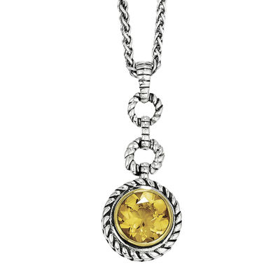 Shey Couture Genuine Citrine Sterling Silver Necklace