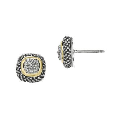 Shey Couture 1/10 CT. T.W. Diamond Sterling Silver Post Earrings