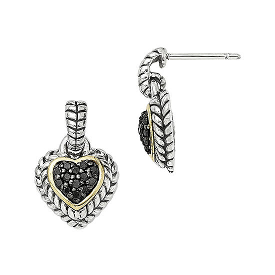 Shey Couture 1/4 CT. T.W. Color-Enhanced Black Diamond Sterling Silver Earrings