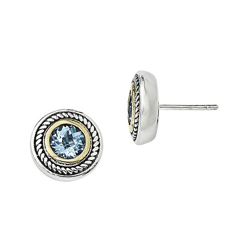 Shey Couture Genuine Blue Topaz Sterling Silver Earrings