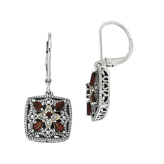 Shey Couture Genuine Garnet and Diamond-Accent Earrings