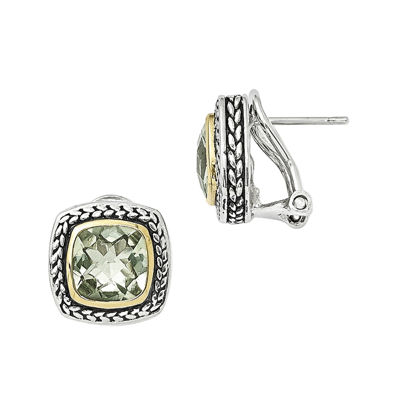 Shey Couture Genuine Quartz Sterling Silver Post Earrings
