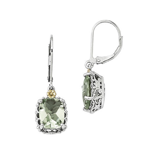 Shey Couture Genuine Quartz Sterling Silver Leverback Earrings