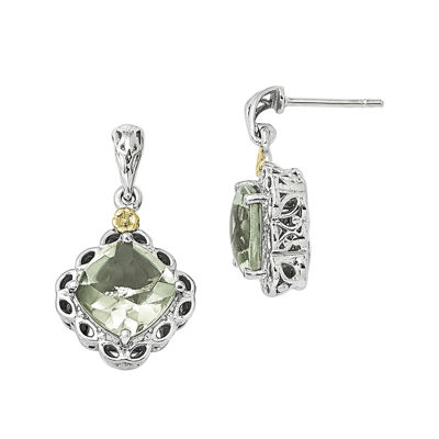 Shey Couture Genuine Quartz Sterling Silver Drop Earrings