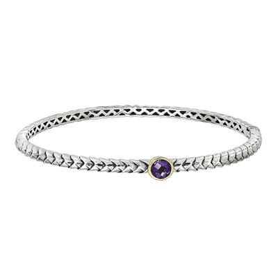 Shey Couture Amethyst Bangle Bracelet