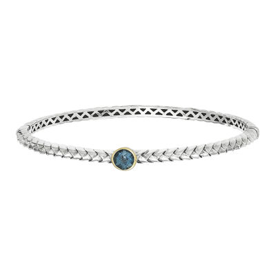 Shey Couture London Blue Topaz Sterling Silver Bangle Bracelet