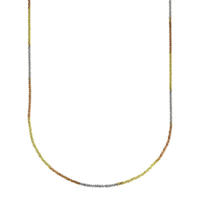 """LIMITED QUANTITIES! 14k Gold Tri-color Hollow Perfectina 18"""" Chain Necklace"""