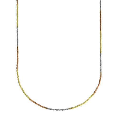 "LIMITED QUANTITIES! 14k Gold Tri-color Hollow Perfectina 18"" Chain Necklace"