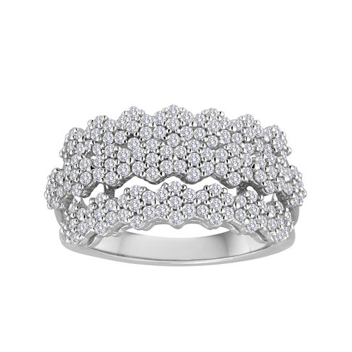 diamond blossom 1 CT. T.W. Diamond Ring in Sterling Silver