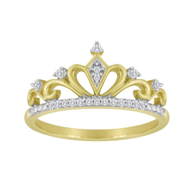 1/10 CT. T.W. Diamond Crown Ring