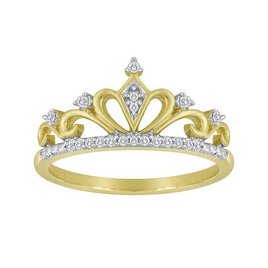 1/10 CT. T.W. Diamond Crown Ring