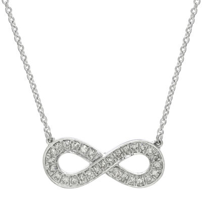 1/4 CT. T.W. Diamond Sterling Silver Infinity Pendant Necklace