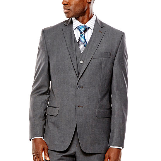 cf5fb2ed4 Collection by Michael Strahan Gray Weave Suit Jacket - Classic Fit -  JCPenney