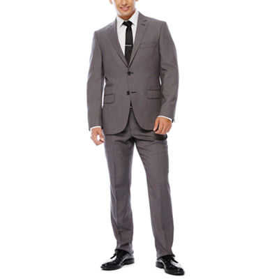 The Savile Row Company Black White Birdseye Suit