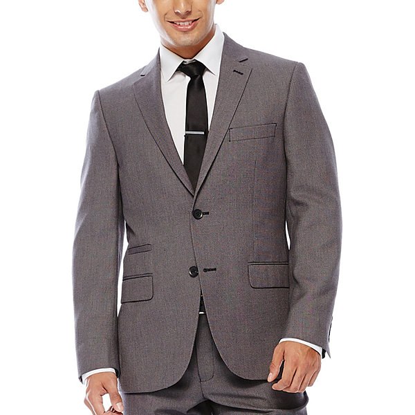 The Savile Row Company Birdseye Suit Jacket - Slim Fit