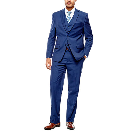 Collection by Michael Strahan Blue Herringbone Suit Separates - Classic Fit
