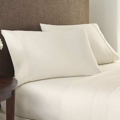 Crowning Touch by Welspun 400tc Solid Set of 2 Pillowcases