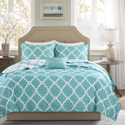 Madison Park Essentials Antioch 4-pc. Reversible Coverlet Set