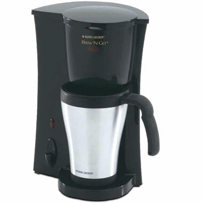 Black+Decker DCM18S Brew 'N Go Deluxe Coffee Makerwith Stainless Steel Mug