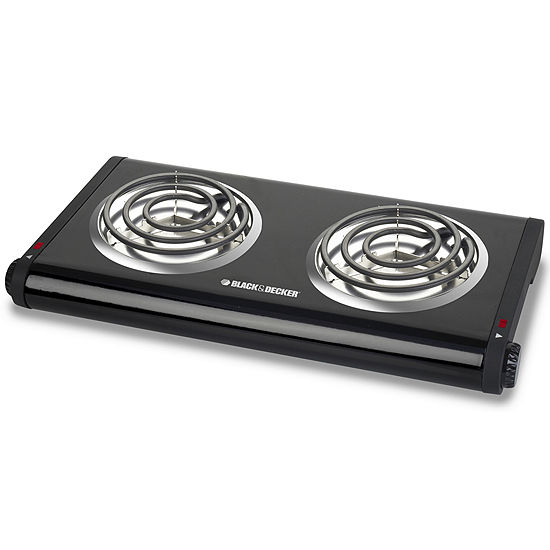Blackdecker Db1002b Double Burner Buffet Range