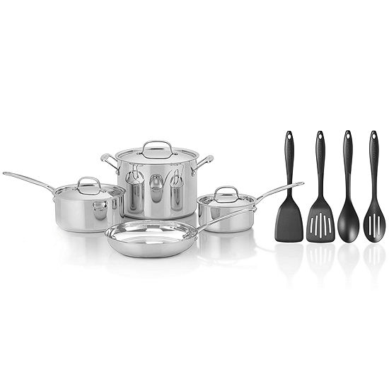 Cuisinart®  Chef's Classic™ 11-pc. Stainless Steel Cookware Set + BONUS Utensils