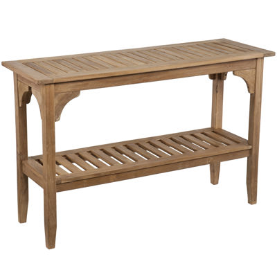 Sheena Outdoor Teak Console Table