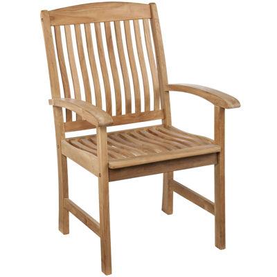 Set of 2 Bristol Outdoor Teak Armchairs