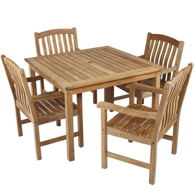 Edgewater 5-pc. Outdoor Teak Dining Set