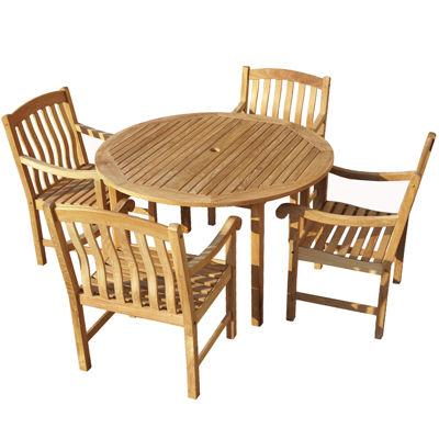 Fanning 5-pc. Outdoor Teak Dining Set