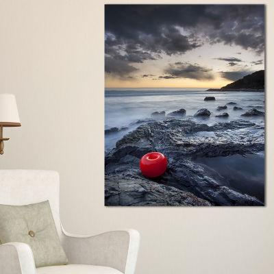 Designart Dark Sunset At Livorno Landscape PhotoCanvas Art Print