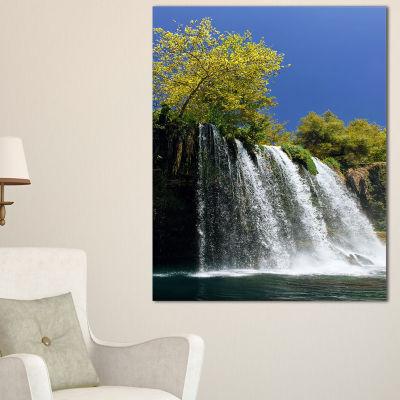 Designart Duden Waterfall Antalya Landscape PhotoCanvas Art Print