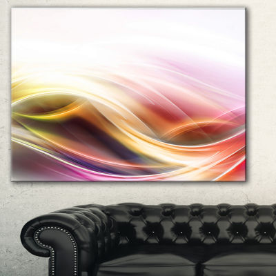 Designart Elegant Light Color Pattern Abstract Canvas Art Print