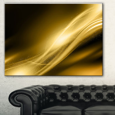 Designart Sparkle Gold Texture Pattern Abstract Canvas Art Print - 3 Panels