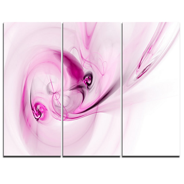 Designart Spiral Nebula Space Magenta Abstract Art- 3 Panels