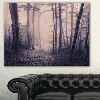 Designart Spring Forest In Fog Landscape Photo Canvas Art Print