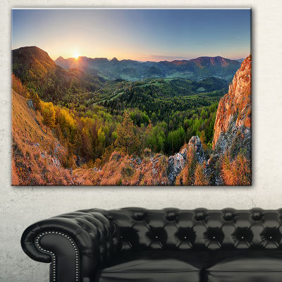 Designart Spring Forest Slovakia Landscape Photography Canvas Print - 3 Panels