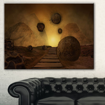 Designart Stones From Space Abstract Canvas Art Print