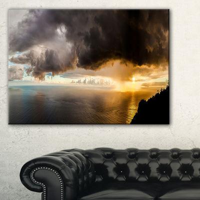 Designart Storm Dark Could At Sunset Landscape Photography Canvas Print