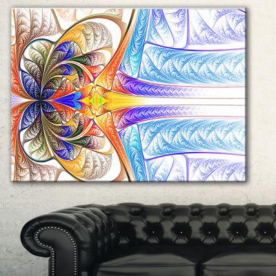 Designart Strange Fractal Desktop Abstract Art -3Panels