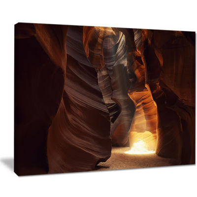 Designart Sunbeam In Antelope Canyon Landscape Photography Canvas Print