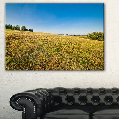 Designart Sunrise Over Green Mountains Landscape Photo Canvas Art Print - 3 Panels