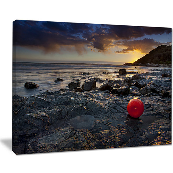 Designart Sunset At Livorno Italy Landscape Photography Canvas Art Print